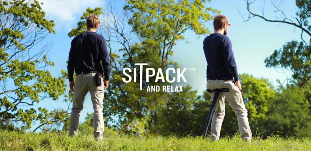 sitpack 評價開箱心得,攜帶式伸縮座椅隨處都是休息地,排隊神器必買口袋收納椅,募資網站 kickstarter (original foldable seat)