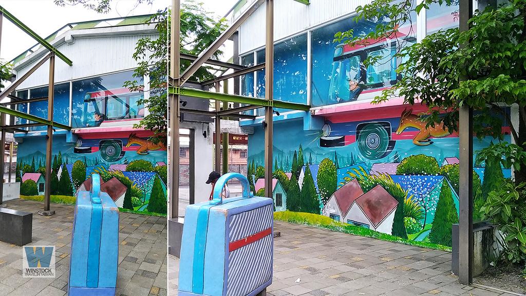 宜蘭景點旅遊推薦,幾米公園廣場,充滿吉米插畫場景的拍照與創意天地 (向左走向右走,火車站) (12)