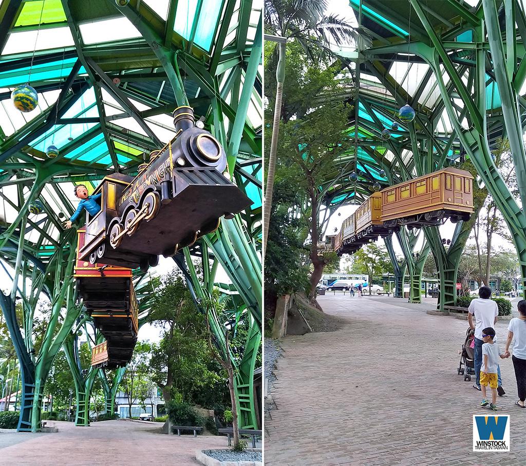 宜蘭景點旅遊推薦,幾米公園廣場,飛天火車2