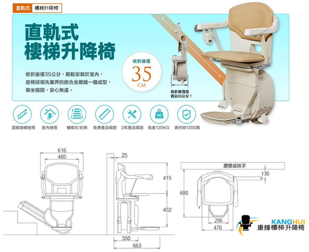康輝樓梯升降椅,推薦讓長輩住公寓像電梯大樓一樣的舒適安全產品 (價格,價位,補助,費用,評價) (6)