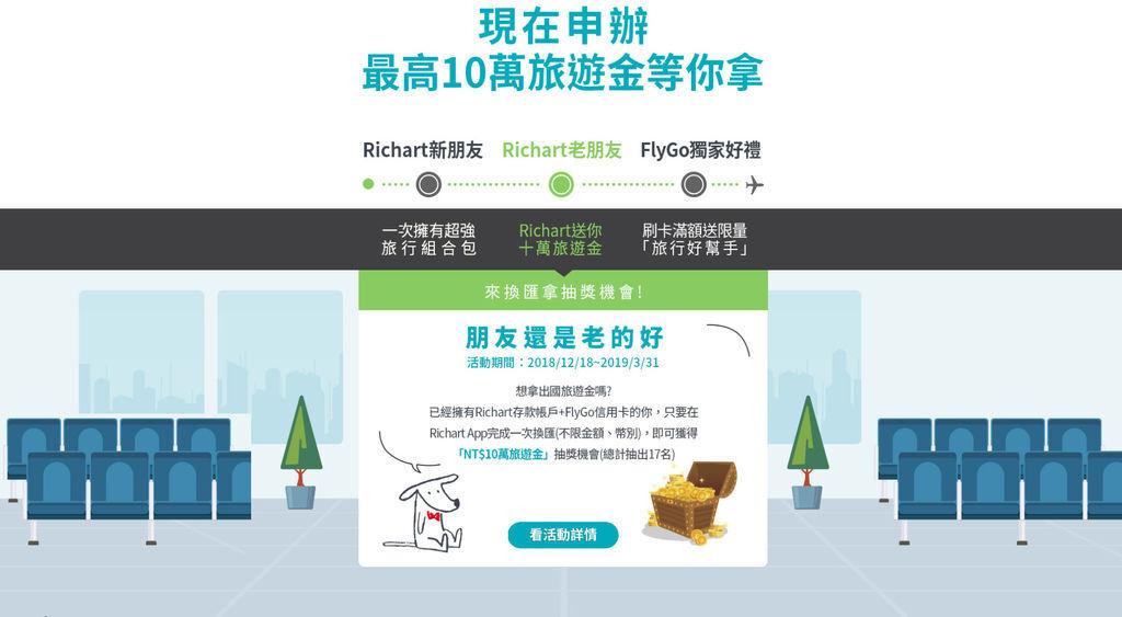 台新銀行 RICHART X FlyGo 飛狗卡 信用卡推薦,2019年海外消費現金回饋最多 (Richart,數位銀行,外幣帳戶,電子票證,一卡通)15