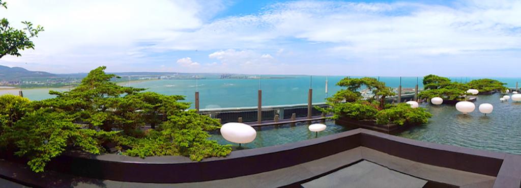 淡水漁人碼頭美景全景照片