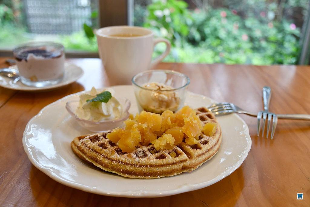 金瓜石煉金文創咖啡,甜點,地瓜鬆餅