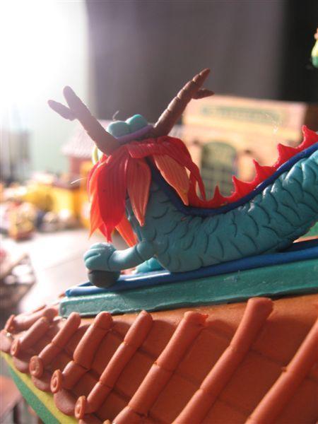 廟頂上的小龍(其實是小蛇)