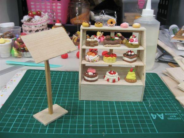 蛋糕架製作中