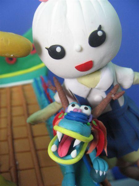 小籠包妹妹與小蛇...噢!抱歉!是小龍XD