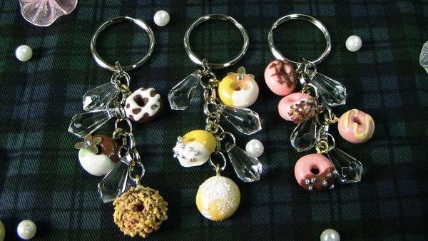 甜甜圈鑰匙圈