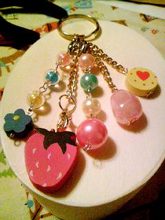 草莓糖果鑰匙圈