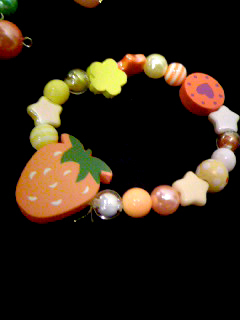 草莓糖果風手環(Orange)