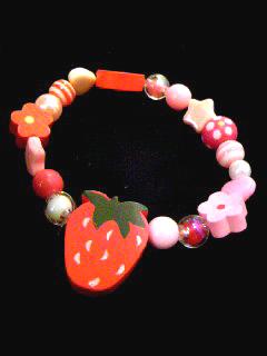 草莓糖果風手環(Red)
