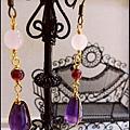 紫水晶耳環