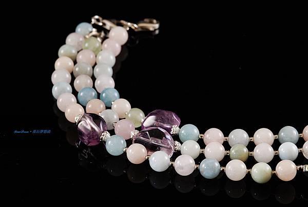 海藍系列與紫水晶手鍊