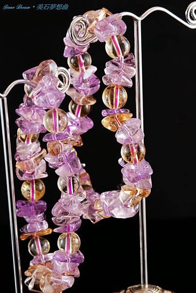紫黃晶手珠