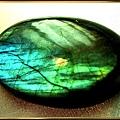 寶石級【拉不拉多石】(黃金海藍 變彩)戒面裸石