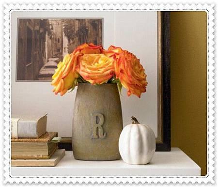 DIY3 字母圖案花瓶