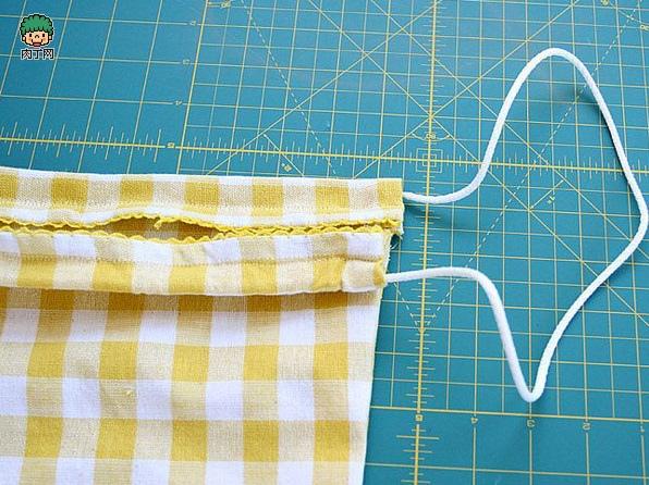 一款簡單的布藝收納袋8.