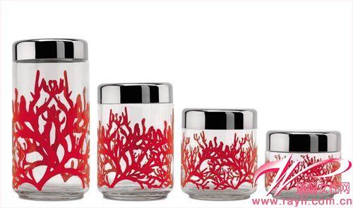 紅色珊瑚收納罐
