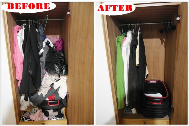 衣櫃爆炸了!!快用簡單收納小方法14.