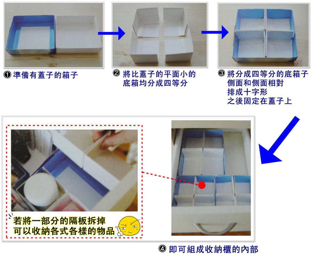 p48 利用有蓋子的箱子製作隔板
