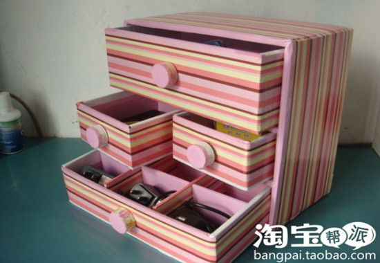 創意DIY 巧制廢棄首飾和小物件收納品8.
