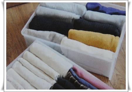 p90將摺好的衣服直放