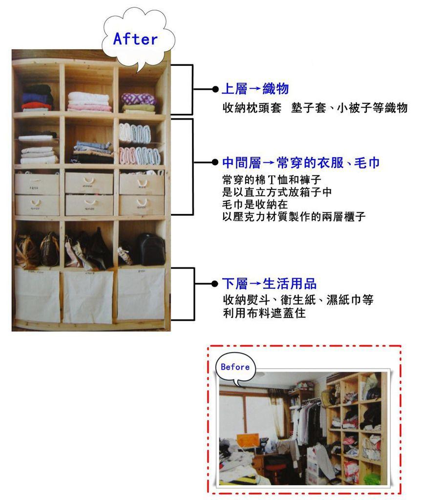 p91 將書櫃活用成衣櫃