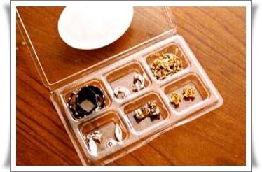 耳環收納 透明奶油盒收納法