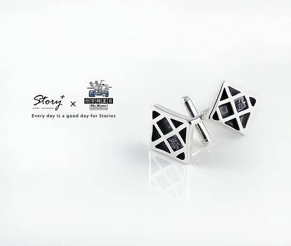 STORY+ 文創銀飾 雪印袖扣
