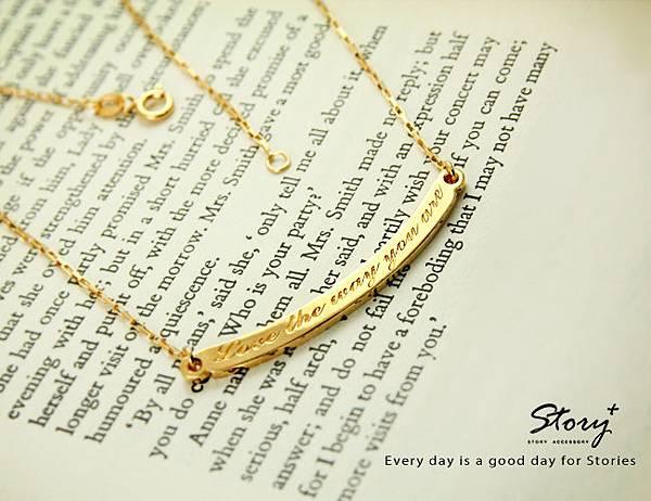 STORY ACCESSORY, 故事銀飾, 925 純銀, 訂做, 字母項鍊,客製化,雷雕,雷射