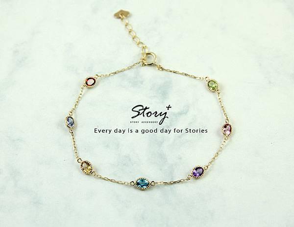 STORY ACCESSORY, 故事銀飾, 10k,k金,輕珠寶,月光石,天河石,鑽石,日系