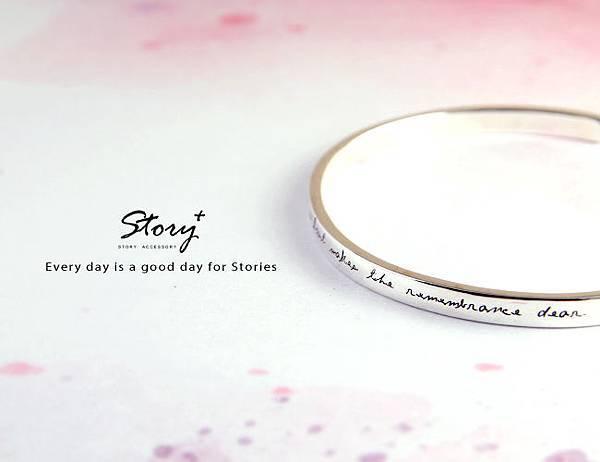 STORY ACCESSORY, 故事銀飾, 925 純銀, 訂做, 字母項鍊 ,雷刻,箴言,手環