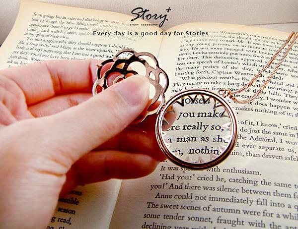 STORY ACCESSORY, 故事銀飾, 925 純銀, 放大鏡,項鍊
