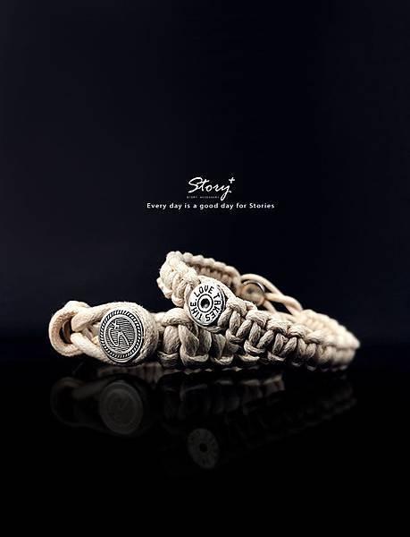 創客系列-經典銀扣編織手環