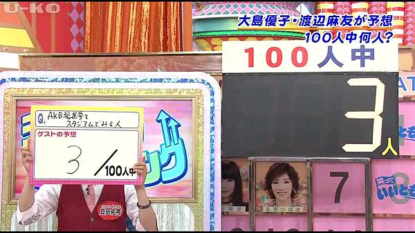 【U-ko字幕組】130607 AKB48 大島優子 渡辺麻友 笑っていいとも_201368131319