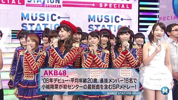 【东京不够热】130927 Music Station AKB48 剪辑版_2013101163211