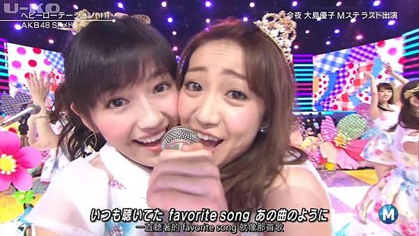 【U-ko字幕組】140321 Music Station(AKB48部分)_2014324215653