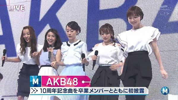 【小櫻花字幕組】160311 MUSIC STATION  AKB48 - 君はメロディー (Talk+Live)_201631318655.JPG