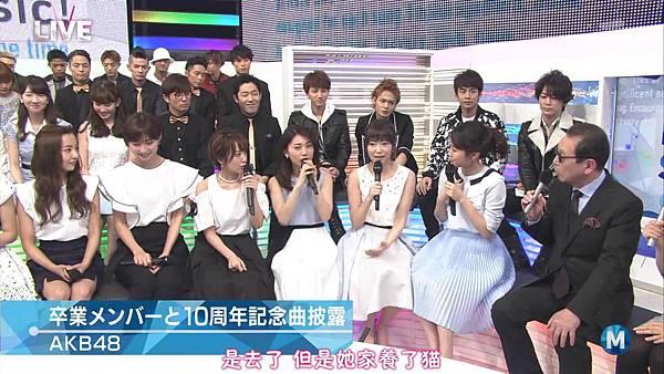 【小櫻花字幕組】160311 MUSIC STATION  AKB48 - 君はメロディー (Talk+Live)_201631319032.JPG