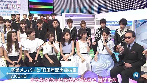【小櫻花字幕組】160311 MUSIC STATION  AKB48 - 君はメロディー (Talk+Live)_20163131907.JPG