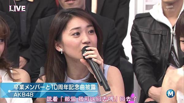 【小櫻花字幕組】160311 MUSIC STATION  AKB48 - 君はメロディー (Talk+Live)_201631319116.JPG