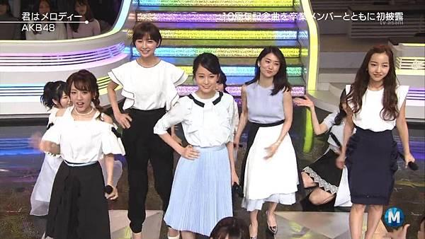 【小櫻花字幕組】160311 MUSIC STATION  AKB48 - 君はメロディー (Talk+Live)_201631319358.JPG