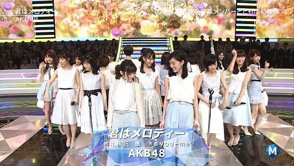 【小櫻花字幕組】160311 MUSIC STATION  AKB48 - 君はメロディー (Talk+Live)_201631319318.JPG