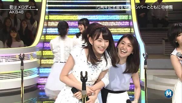 【小櫻花字幕組】160311 MUSIC STATION  AKB48 - 君はメロディー (Talk+Live)_201631319422.JPG