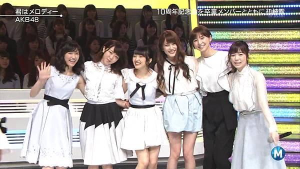 【小櫻花字幕組】160311 MUSIC STATION  AKB48 - 君はメロディー (Talk+Live)_201631319434.JPG