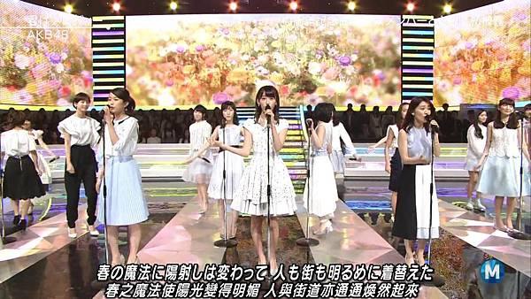 【小櫻花字幕組】160311 MUSIC STATION  AKB48 - 君はメロディー (Talk+Live)_201631319454.JPG