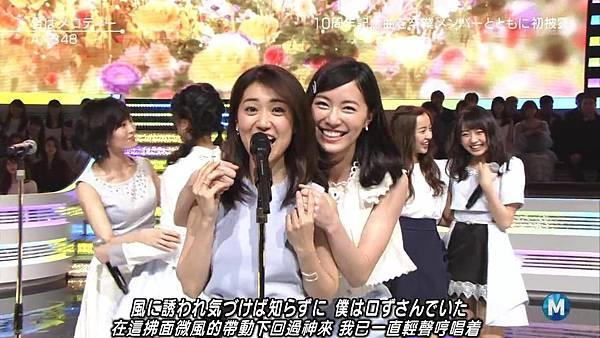 【小櫻花字幕組】160311 MUSIC STATION  AKB48 - 君はメロディー (Talk+Live)_20163131957.JPG