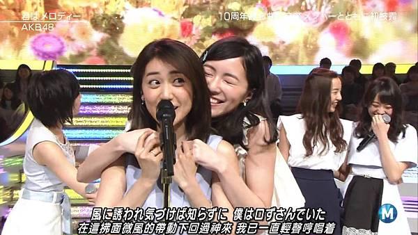 【小櫻花字幕組】160311 MUSIC STATION  AKB48 - 君はメロディー (Talk+Live)_201631319513.JPG
