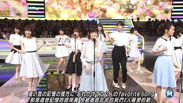【小櫻花字幕組】160311 MUSIC STATION  AKB48 - 君はメロディー (Talk+Live)_201631319532.JPG