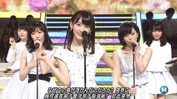 【小櫻花字幕組】160311 MUSIC STATION  AKB48 - 君はメロディー (Talk+Live)_201631319549.JPG