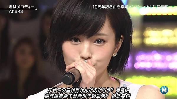 【小櫻花字幕組】160311 MUSIC STATION  AKB48 - 君はメロディー (Talk+Live)_201631319555.JPG